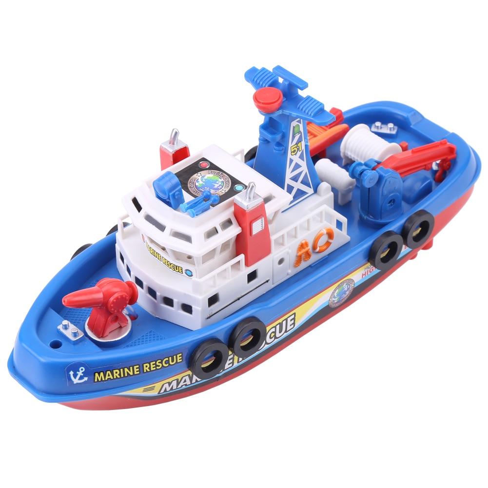 Creative Electric Boat Ship Water Bath Toys Music Glowing Lights Bath Shower Educational Toys Kids Children Bathing in Bathroom