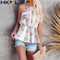 women tops sleeveless spaghetti strap floral print blouses casual boho vintage holiday 2021 new