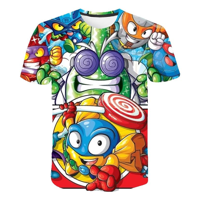 2021 3D Cartoon super zings Baby Kids T Shirt Boy Girl Children Clothes Short Sleeve t Shirt Summer Clothing superzing Print Tee