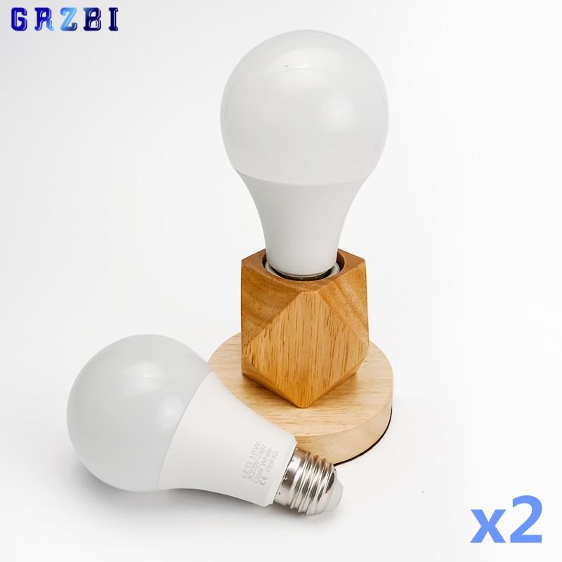 2 unids/lote Bombilla LED E27 E14 3W 6W 9W 12W 15W 18W...