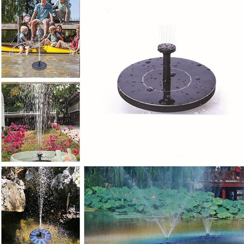 Открытый Декор мини на солнечных батареях плавающая птица ванна водяная панель фонтан насос Сад Пруд бассейн птичий фонтан