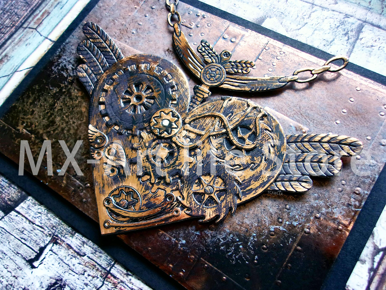 2020 Flying Steampunk Love Heart Metal Cutting Dies Valentine's Day Present Gear Stencil for DIY Scrapbooking Card Decorative