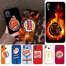 CUTEWANAN burger king burgerking Logo TPU noir téléphone housse coque pour Samsung A10 A20 A30 A40 A50 A70 A80 A71 A51 A6 A8 2018