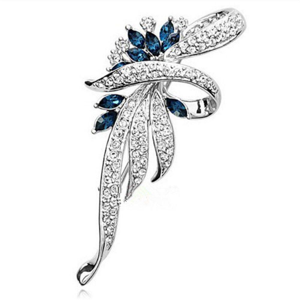 LNRRABC для женщин и девочек элегантный невесты золото фиолетовый Серебряный Синий Кристалл Стразы Цветок-брошь из сплава булавка для женщин Bijoux Бижутерия