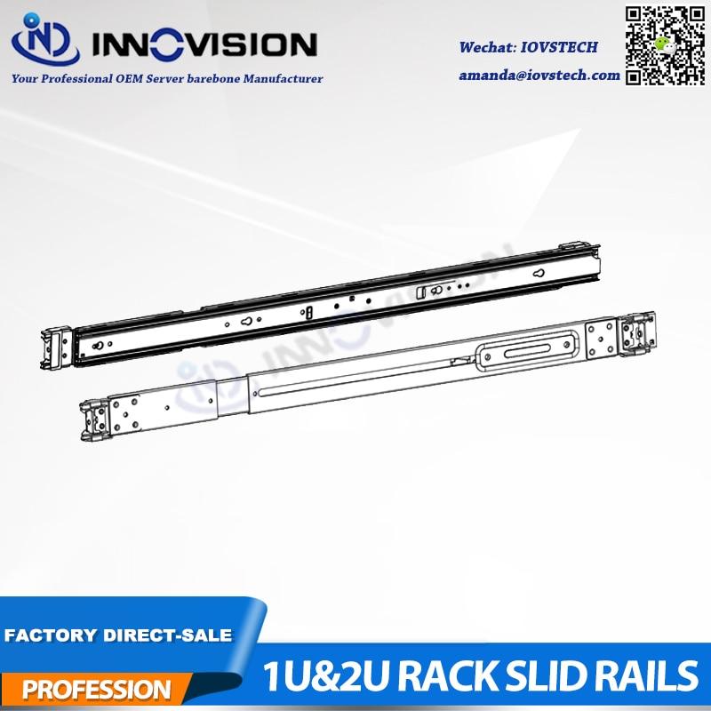 Rails coulissants à 3 sections adaptés à nos rails de serveur de rack Non universels de la série 1U & 2U hotswap