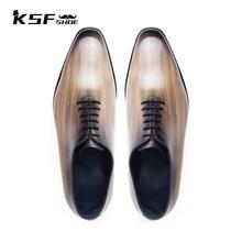 Luxury Fashion Brand Designer Men Shoes Original 2021 Party Genuine Leather Oxford Handmade Custom S