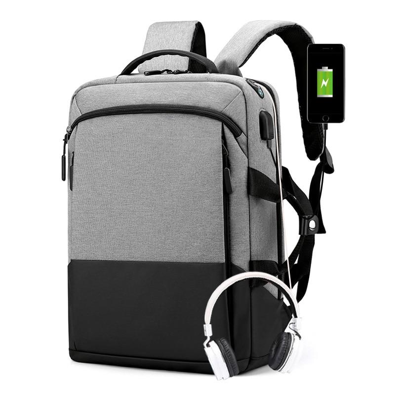 Weysfor Vogue водонепроницаемый однотонный большой рюкзак, мужская сумка для ноутбука, черный рюкзак, Мужской Дорожный рюкзак, Подростковый рюкз...