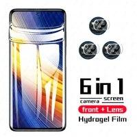 pocox3 pro hydrogel film for xiaomi poco x3 nfc phonepoco screen protector film camera lens pocofone pocco poko f3 x3 glass