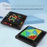 2 in 1 rainbow ball matching toy colorful puzzle chess board game with 80pc colored beads intelligent brain game educational toy