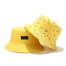 Nouveau mode été Panama seau Chapeau hommes femmes mignon chat imprimer Bob Chapeau Hip Hop casquette de pêche réversible pêcheur Chapeau