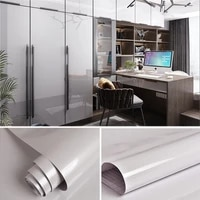shiny gray sticky paper decal pvc self adhesive diy decorable films waterproof refurbished furniture wallpaper kitchen cabinet