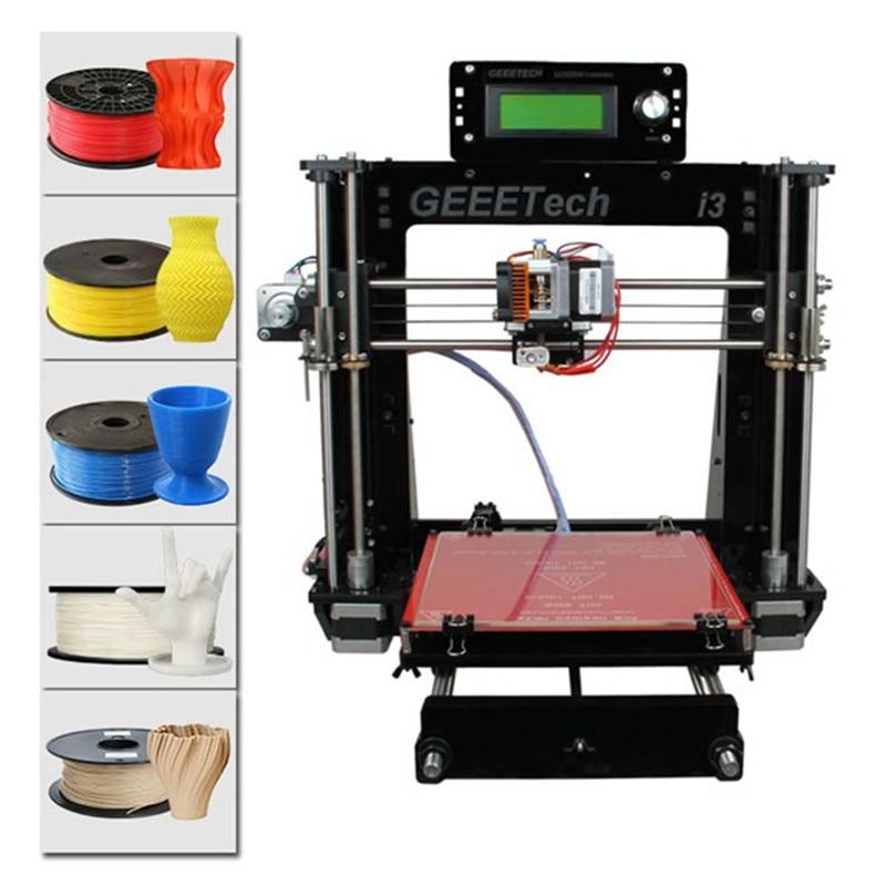 Geeetech I3 Pro B impresora 3D marco acrílico de alta precisión Impressora DIY Kit 3D soporte de impresora 5 filamentos máquina de impresora