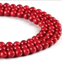 natural beads loose spacer red turquoise bead for jewelry making