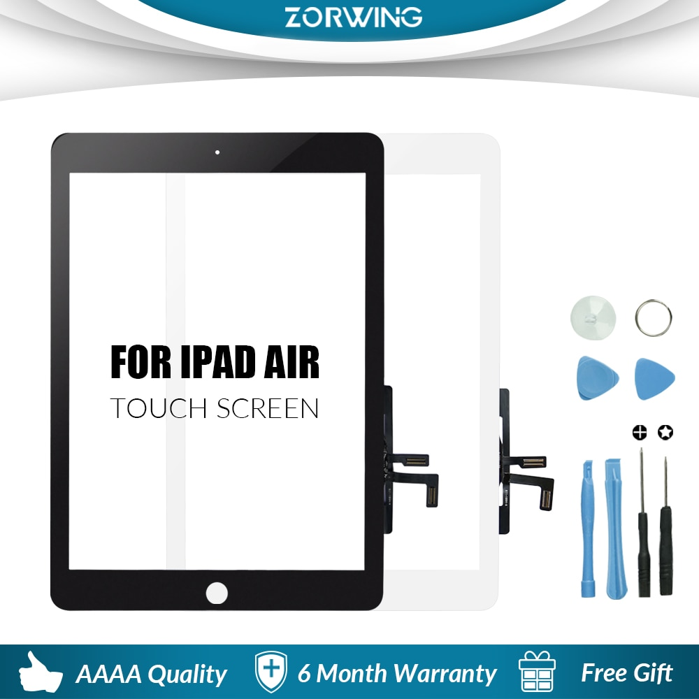 New For iPad Air 1 iPad 5 LCD Outer Touch Screen Digitizer Front Glass Display Touch Panel Replaceme