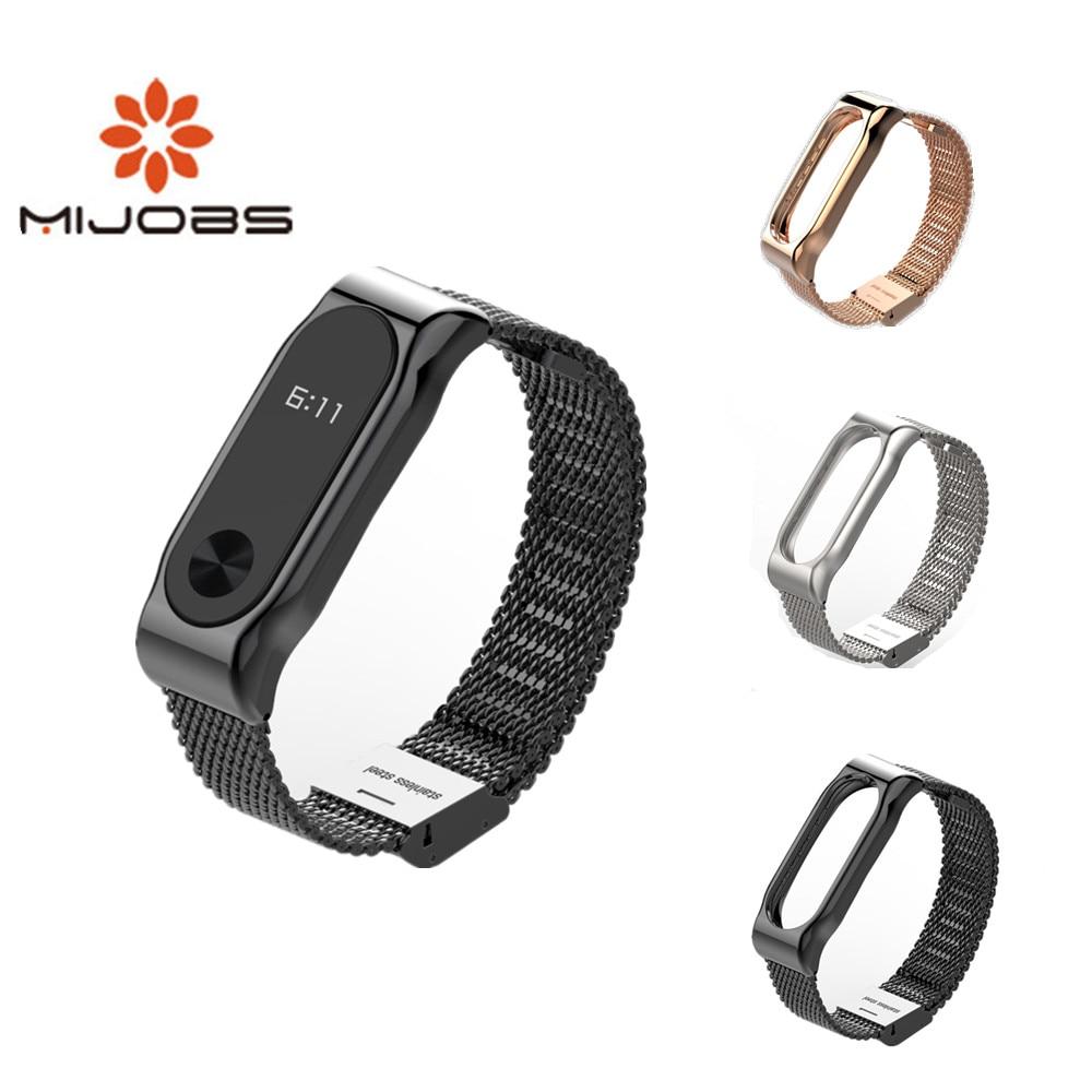 Correa de Metal para Xiaomi Mi Band 2, pulsera de acero inoxidable...
