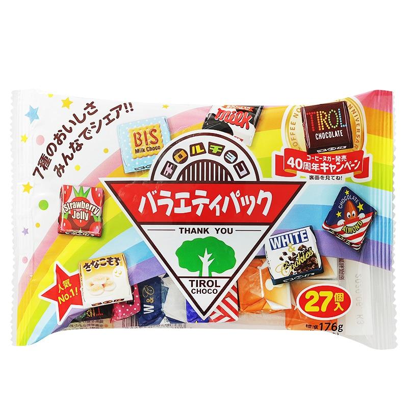 160g Japan Tirol chocolate box package Baby Kids snack 1set include 27pcs