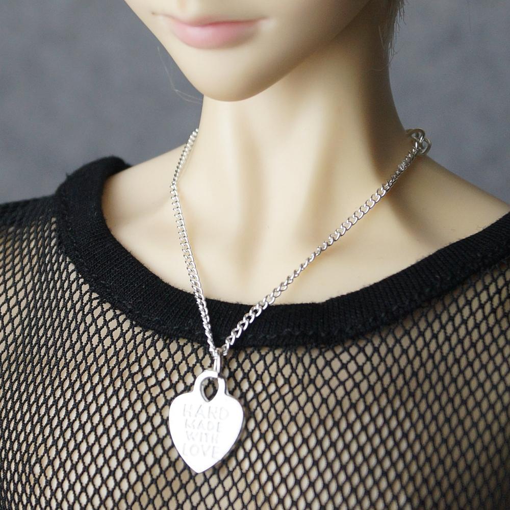 "BJD collar de corazón de OOAK hecho a mano para 1/3 24 ""70 cm SD17 BJD muñeca SD US DZ AOD DD Volks muñeca uso envío gratis"