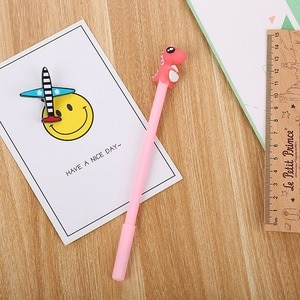 20PCs Gel Pens Set Dinosaur Silicone Head Gel Pen Cartoon Learning Office Cute Sign Pen Creative School Writing Supplies