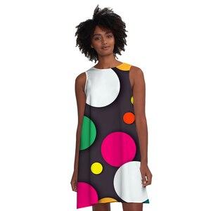 New Arrivas 3D Printing Vest Dress Women's Sleeveless Shirt Quick-drying Lady Skirt Funny Dress Oversized Dress Fashion Pajamas