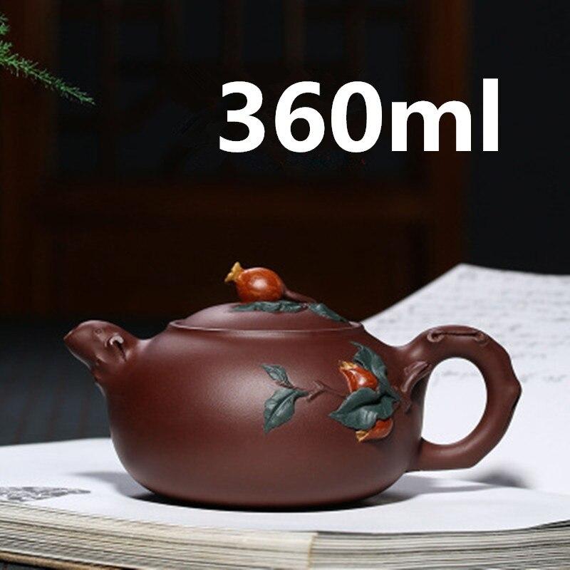 Tetera-أباريق شاي بورسلين صيني Yixing Zisha Gongfu ، طقم شاي 360 مللي ، وصل حديثًا ، جودة عالية مع صندوق هدايا ، عبوة آمنة
