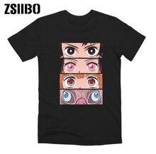 ZSIIBO Demon Slayer футболка с принтом «Blade of ghost» модные популярные повседневные топы с принтом «Ghost Blade», футболка для мальчиков и девочек повседневные футболки