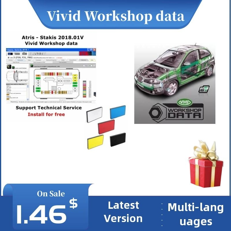 2021 Hot Arrival Vivid Workshop DATA 2018.01v( (Atris-Technik) Europe Automotive Repair Software Atris Parts Catalog Vivid 2018 недорого
