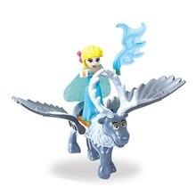 10 pçs/lote Princesa com Flying Horse Conto de Fadas Tinker Bell Sereia Anna Elsa Branca de Neve Belle Fille Amigos Figuras Modelo Brinquedos