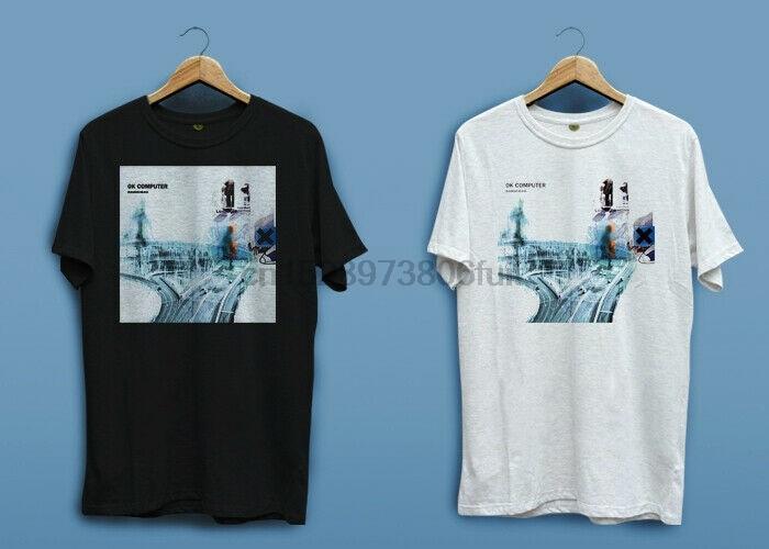 Nuevo logotipo de Radiohead OK ordenador OKNOTOK blanco negro hombres camiseta camisa XS-2XL