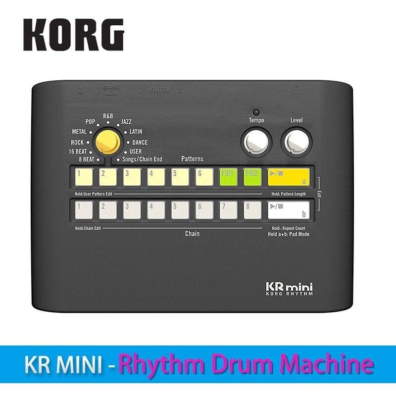 Mini-tambor de ritmo korgr KR potencia tu práctica con diversos patrones de ritmo