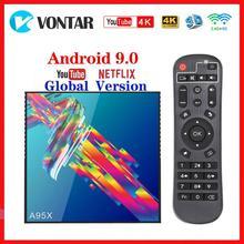 Vontar Youtube 4K Smart TV Box Android 9.0 4GB RAM 64GB ROM A95X R3 TV Box 2G/16G RK3318 lecteur multimédia USB3.0 Google Play Store