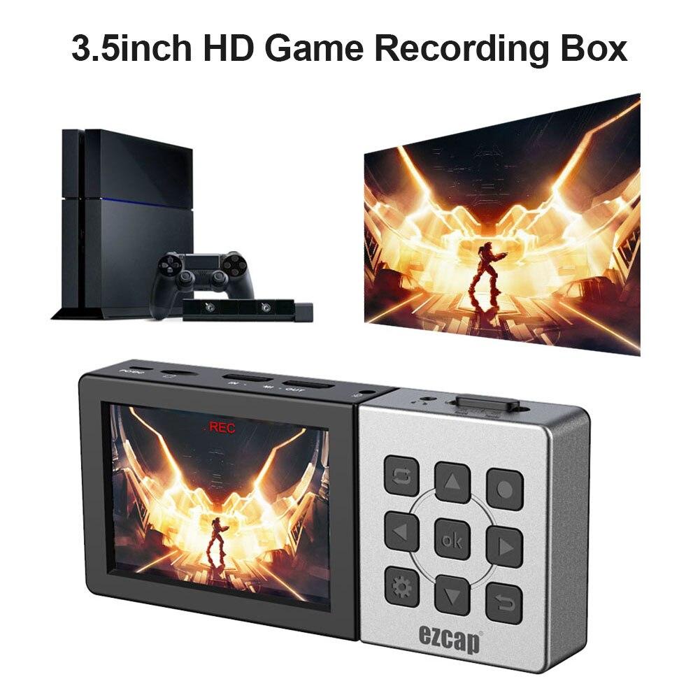 Ezcap273 3.5 بوصة كامل HD مسجل فيديو صندوق HDMI متوافق المحمولة 1080P 60fps USB 2.0 لعبة التقاط جهاز 150*67*23 مللي متر