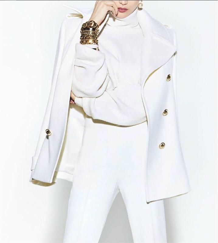 2 peça branco pico lapela terno feminino calças de negócios escritório formal uniforme senhoras trabalho wear blazer outfit pantsuit feito sob encomenda