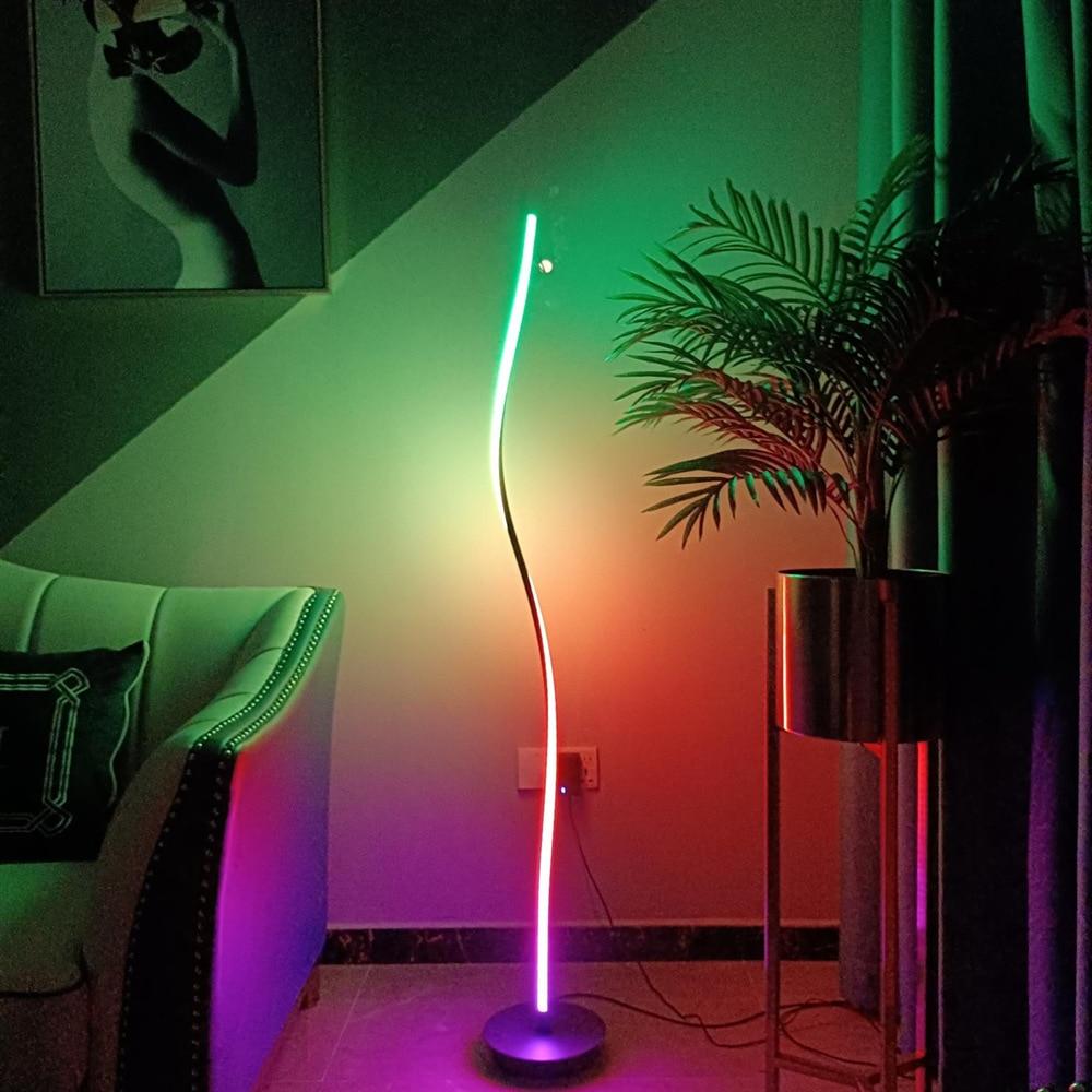 replica arne jacobsen floor lamp aj floor lamp Explosive RGB color phantom floor lamp, personalized casino atmosphere light, cool and cool LED floor lamp