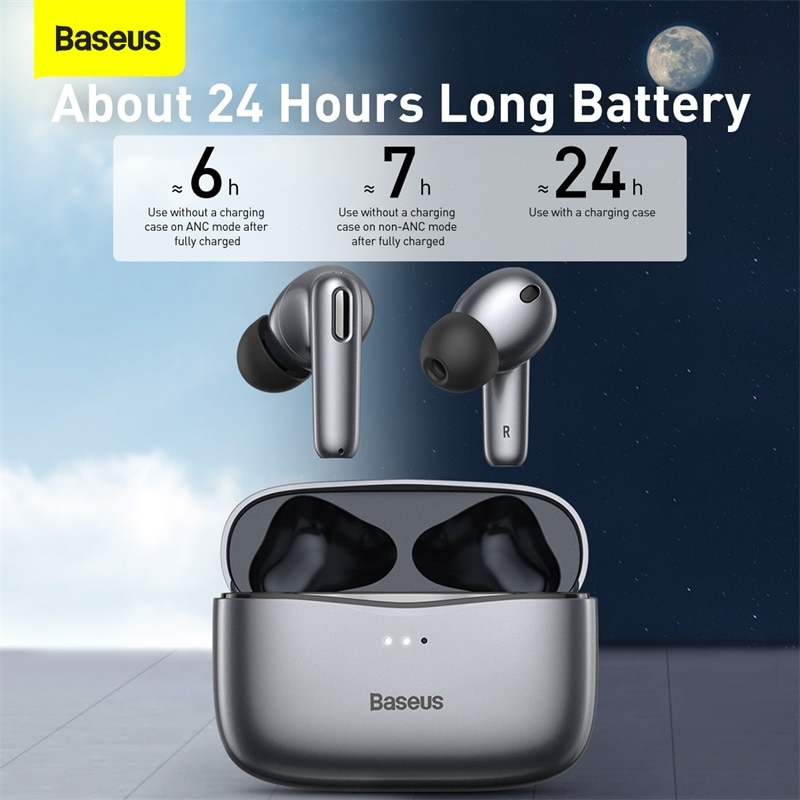Baseus ANC TWS S2 Earphone Wireless Bluetooth 5.0 Earphones Noise Cancelling Earbuds Gaming Ear Buds Headset With Microphone enlarge