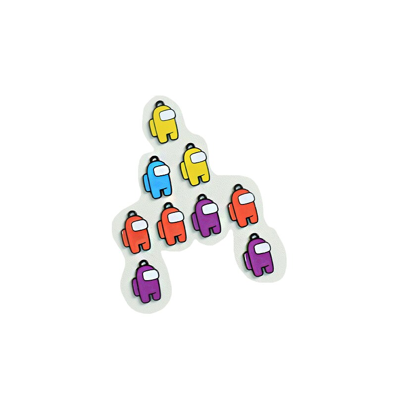 Amongin Us Game Toys Figures Shoelaces Decorative Shoe Buckle Button Accessories Cartoon for Children Adults Shoe Clip Toy