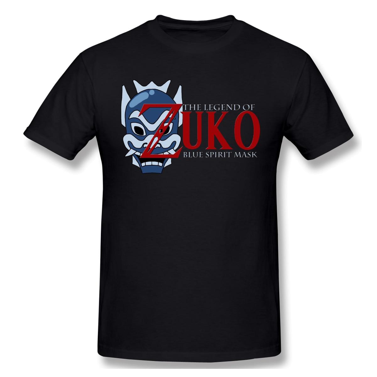 The Legend Of Zuko - Blue Spirit MaskT-Shirt Men Top Quality 100% Cotton Short Summer Sleeve legend of zelda Casual Tshirt Loose