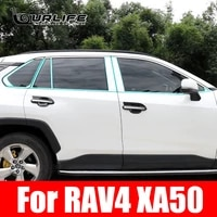 304 stainless steel exterior window sill lid trims for toyota rav4 xa50 xa 50 2019 2020 2021 car styling accessories