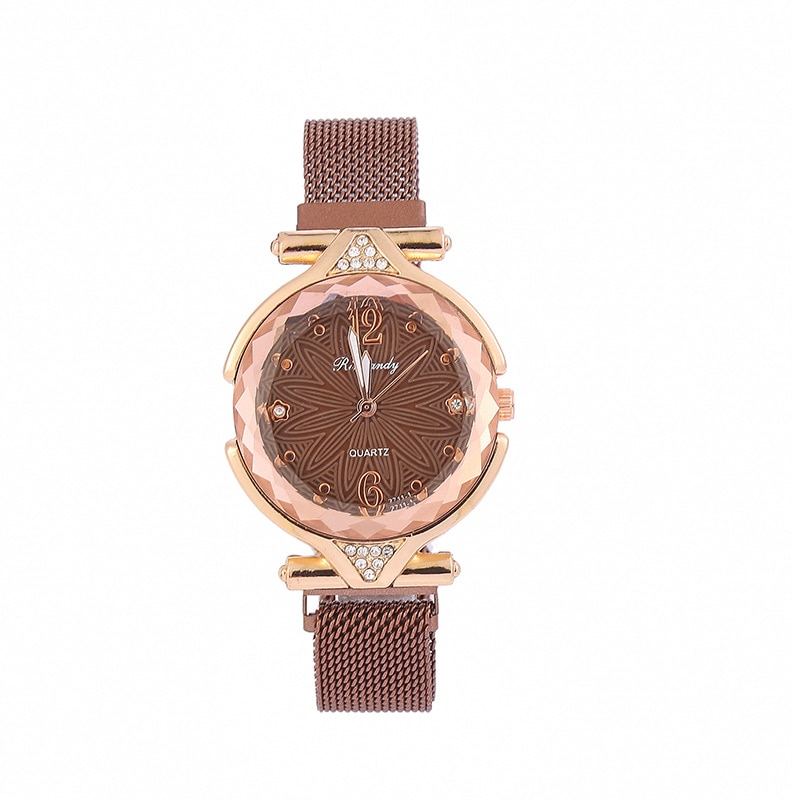 YUNAO Hot-Selling New Diamond Watch With Iron-Absorbing Stone Creative Starry Sky Surface Ladies Casual Fashion Quartz Watch enlarge
