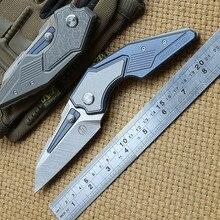 MAXACE Zerg tactique couteau pliant M390 lame KVT roulement à billes titane poignée camping chasse en plein air survie couteaux EDC outils
