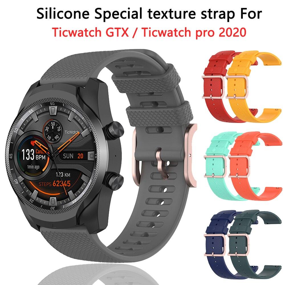 Ticwatch-Correa de silicona para Ticwatch pro 2020 accesorios de reloj para Ticwatch...