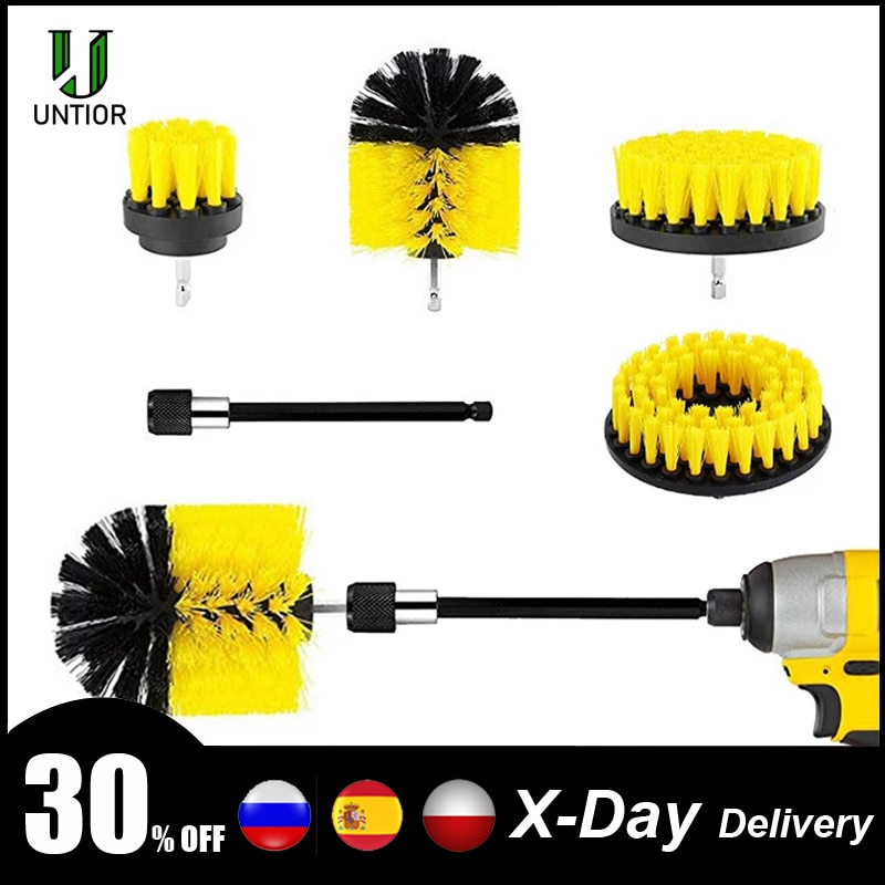 UNTIOR Power Scrubber Brush Drill Brush Clean for Bathroom Kitchen Tub Tile Surfaces Power Scrub Cle