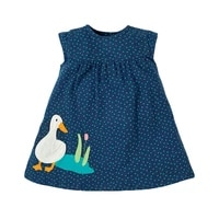 2 7 years cotton dress for toddler baby girls with duck embroidery sleeveless for girl summer outfits sundress for kids