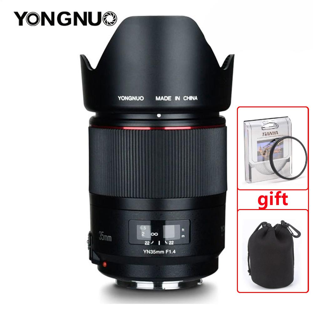 YONGNUO YN 35 مللي متر F1.4 واسعة زاوية عدسات لكاميرات كانون 5DII 5D 500D 400D 600D 60D عدسات لكاميرات كانون DSLR عدسة الكاميرا