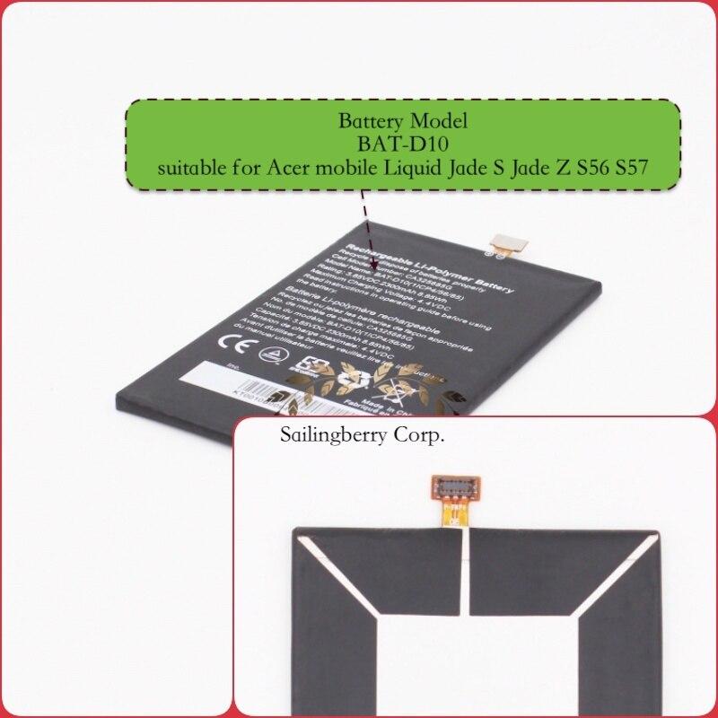 Wbudowana bateria odpowiednia dla Acer-mobile Liquid Jade S Jade Z S56 S57 Z akumulatorem model BAT-D10