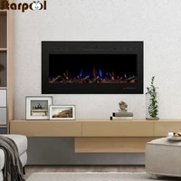42 inch electric fireplace firebox insert burner room heater led optical fire artificial flame decoration warm air blower