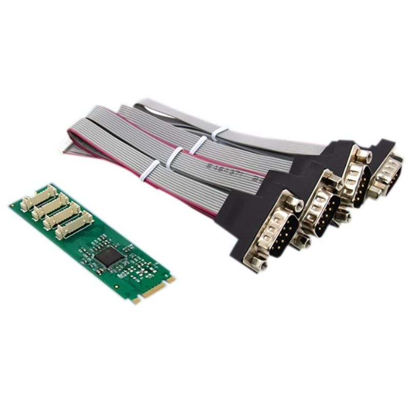 M.2 B + M مفتاح 4S المسلسل ميناء محول DB-9 الصناعية RS232 ميناء التوسع بطاقة لأجهزة الكمبيوتر المحمول