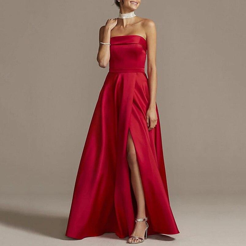 فستان سهرة ساتان ، فستان سهرة أنيق ، أحزمة سباغيتي ، خط a ، طول الأرض ، حفلة موسيقية ، فستان رسمي ، AE829 ، 2021