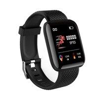 Новинка 2020, Роскошные светодиодные умные часы DZ09 116 Plus IWO Q18 X8, водонепроницаемые Смарт-часы браслет для спорта и здоровья для Android Ios