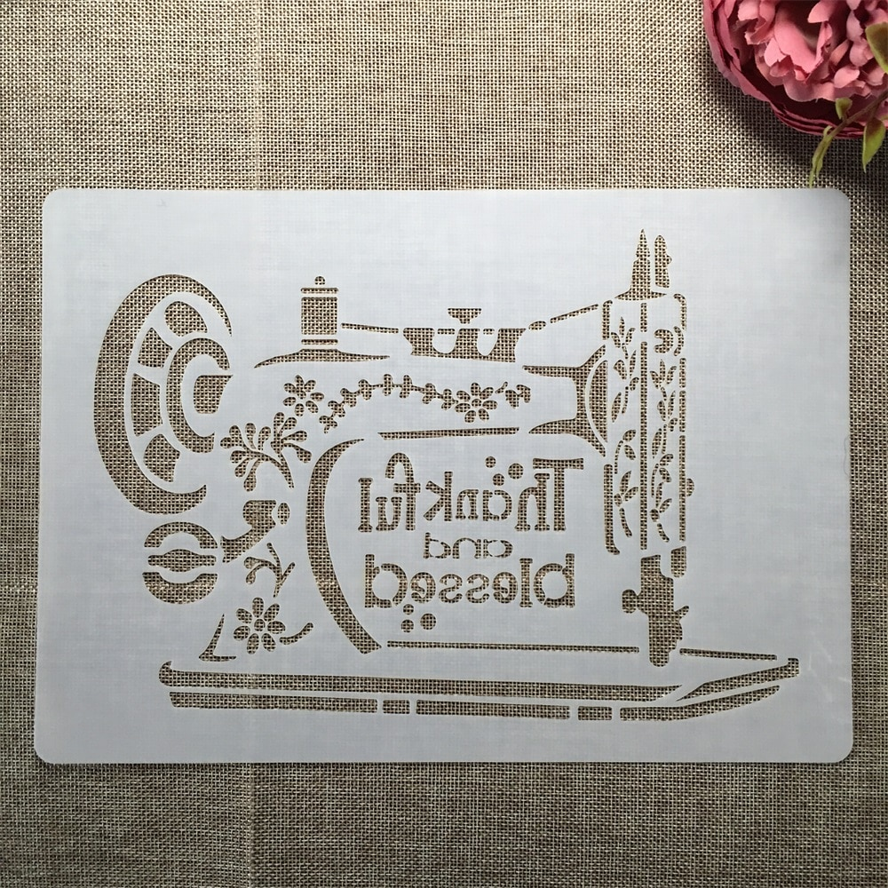 Трафареты для швейной машины формата А4 29 см, «сделай сам», многослойный трафарет, настенная живопись, раскраска для скрапбукинга, декоратив...