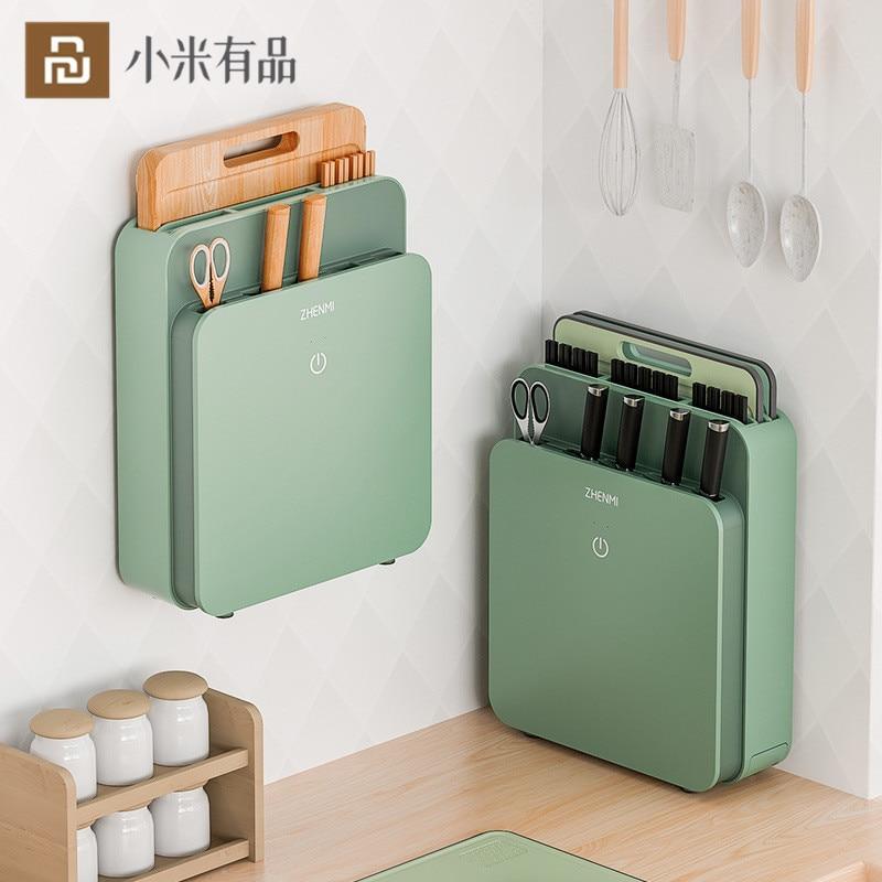 Youpin ZHENMI قطع المجلس سكين معقم الذكية التلقائي التدفئة مجفف عود حامل سكاكين تخزين تطهير آلة